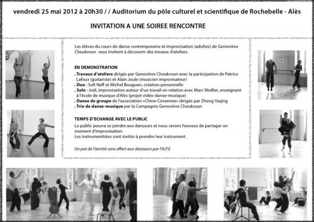 Soirée rencontre autour de la danse - Flyer - 25.05.2012