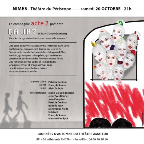Ca va ? Cie Acte II - Flyer Périscope Nîmes - 20.10.2012