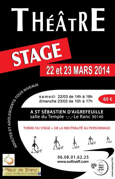 Flyer - Stage Théâtre - Asso [Sofi Naff & Cie] - 22-23.03.2014