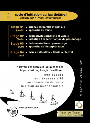 Flyer V° - Week-ends Stages Théâtre - Asso [Sofi Naff & Cie] - 2014