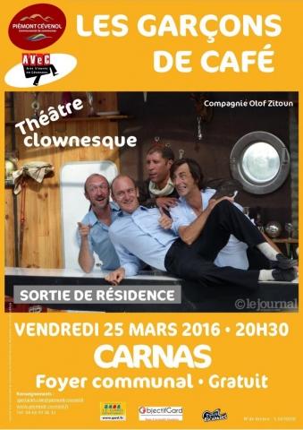 Sortie de résidence - Les garçons de café, Cie Olof Zitoun - 25.03.2016