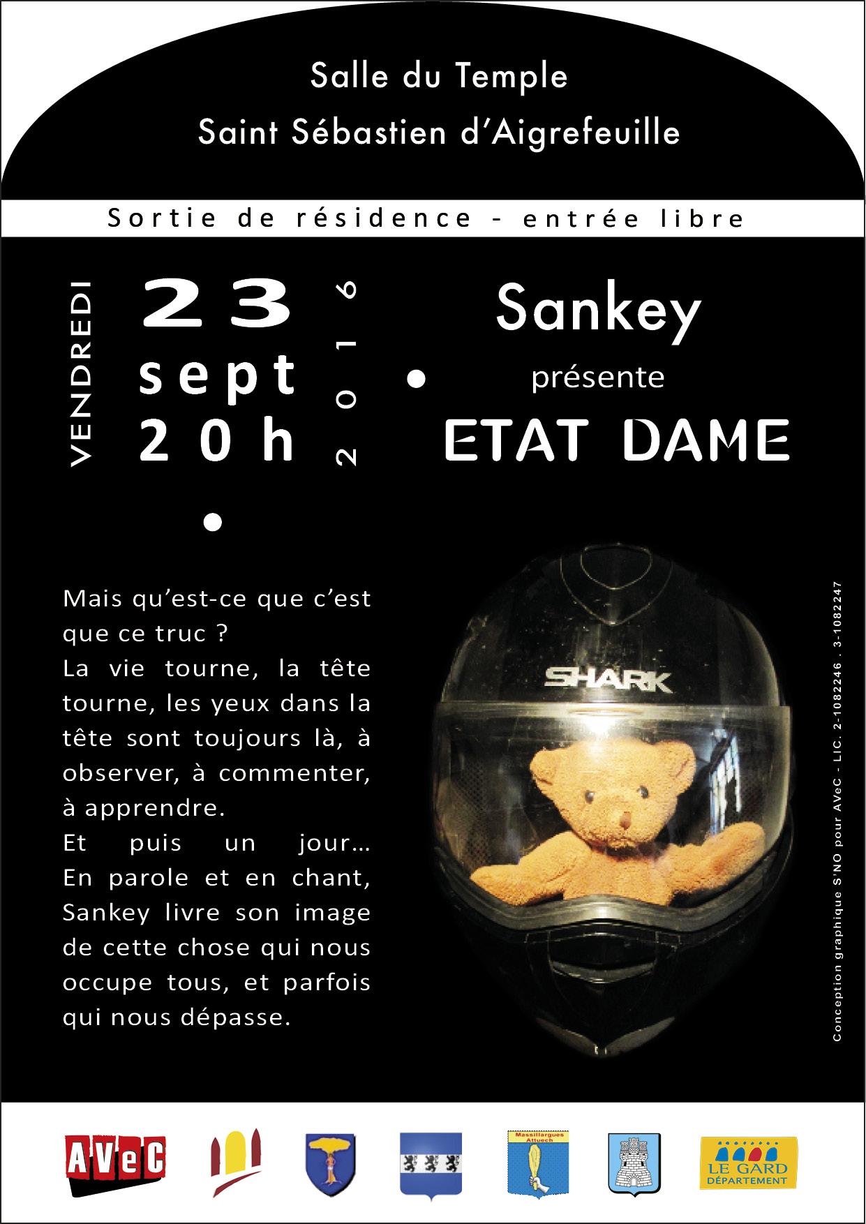 Sortie de résidence - Etat dame, Sankey - 23.09.2016