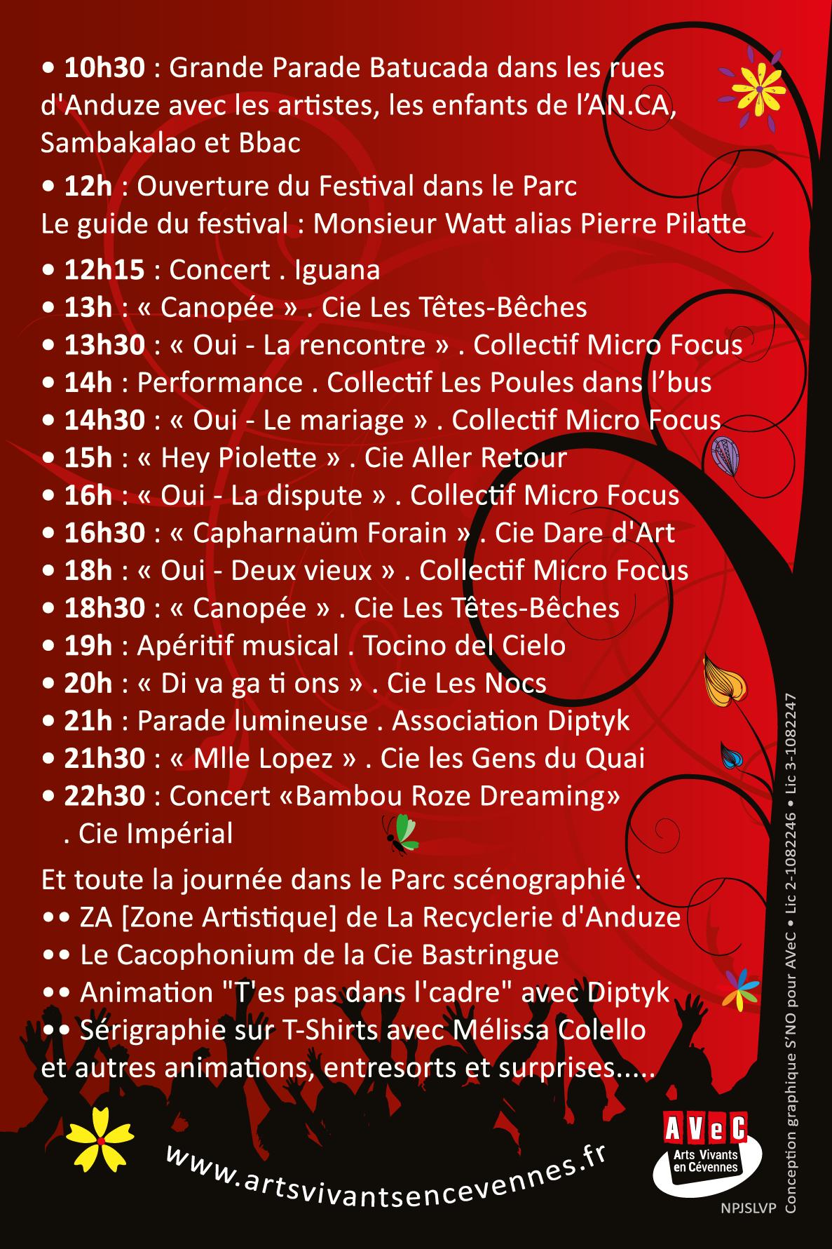 Festival AVeC'envie#2 - Programme - 07.05.2017