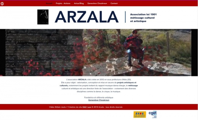 Site Asso ARZALA - Accueil