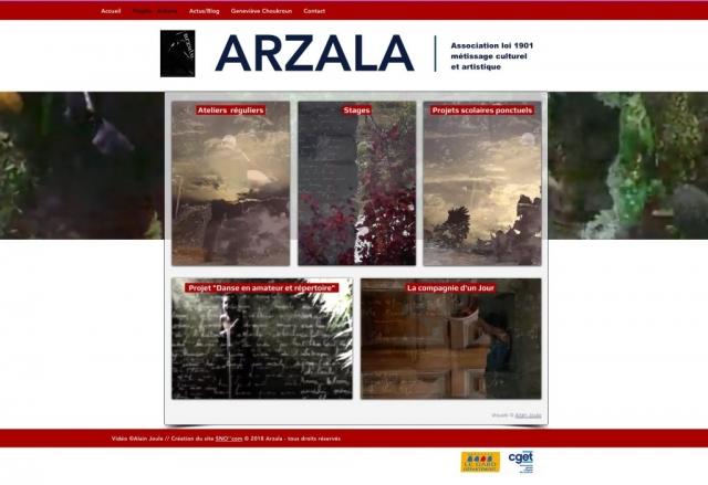 Site Asso ARZALA - Projets