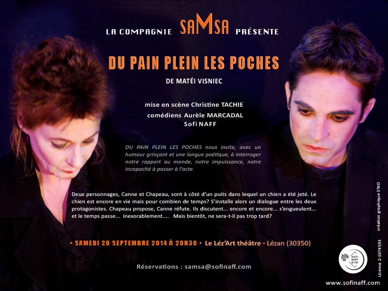Du pain plein les poches, Cie saMsa - Flyer Léz'Art Théâtre -20.09.2014