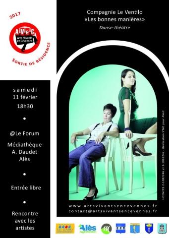 Sortie de résidence Cie Le Ventilo / Médiathèque A.Daudet, Alès (30) -11.02.2017