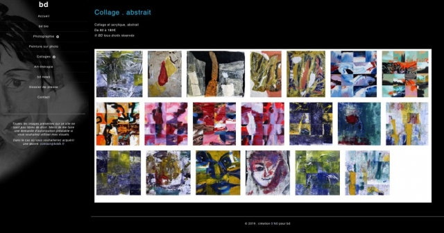 Site - BD, Brigitte Delval - Page Collages abstraits